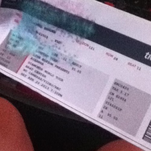 My ticket got wet because of the stupid rain