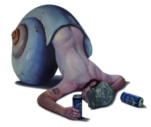 2headedsnake:  Tony South 'Legless 09' oil on canvas