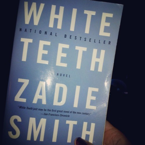 Almost finished with #zadiesmith's #whiteteeth. Great novel! I love her critique of white western liberalism. #books #nowreading