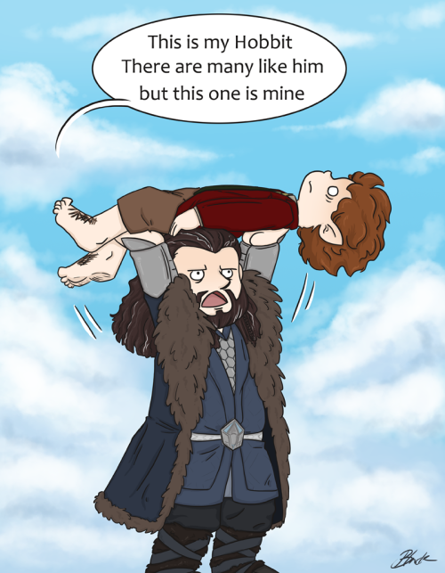 Hobbit - Thorin picks up Bilbo by =caycowa LOLOLOLOLOL!