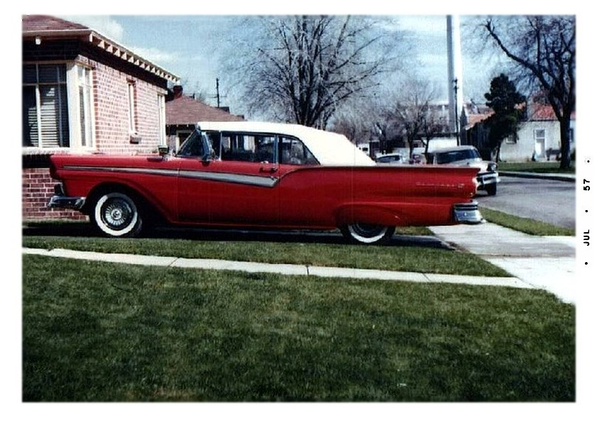 Sunliner and skirts… new in  '57
