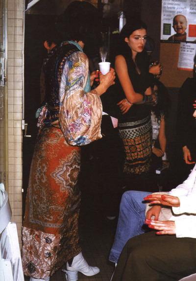 crystallizations:  Backstage at Maison Martin Margeila, S/S 1992, photographed by Barbara Katz