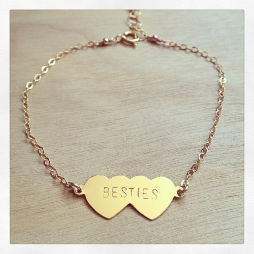 Show your best friend some love with our new BESTIES bracelet! 👯 $52 etsy.com/shop/bunniesinla #bff #bestfriends #bunniesinla