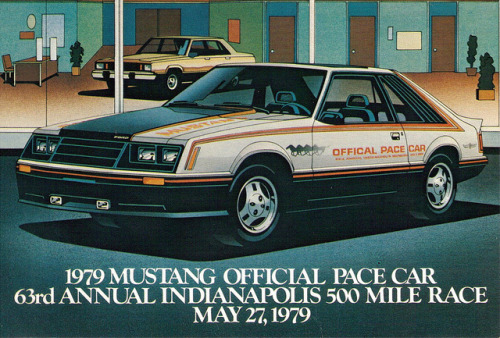 1979 Ford Mustang Indy Pace Car by coconv on Flickr.1979 Ford Mustang Indy Pace Car