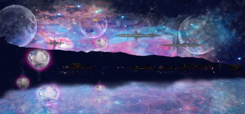 Orions Nebula - Digital Matte Painting. by ~x—shawna—x