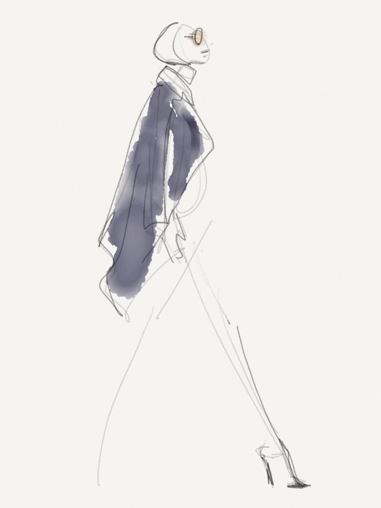 Line Knitwear - Fall 2013 / Illustration by Danielle Meder Using swipes instead of brush strokes, Canadian illustrator Danielle Meder sketches her favourite looks from the runway rooms at Toronto Fashion Week