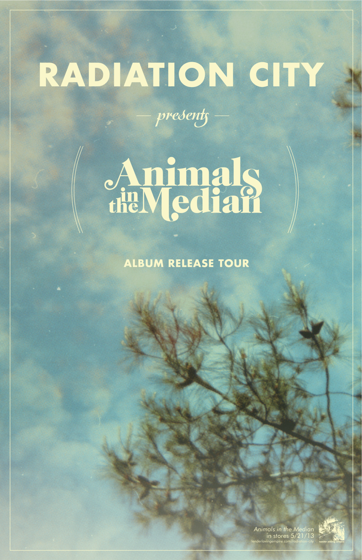 radiationcity:  Animals in the Median is out today on Tender Loving Empire.  Give a listen here.  Own it on vinyl, CD, or digital formats.