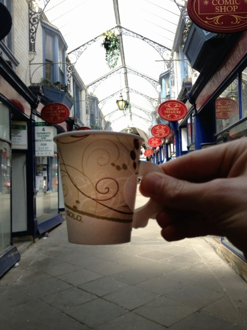 Arcade coffee. 6oz double shot cappuccino from a cart in Dewsbury. Better than expected.