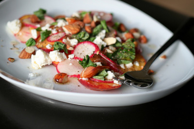Peach & Radish Salad by bitchincamero on Flickr.