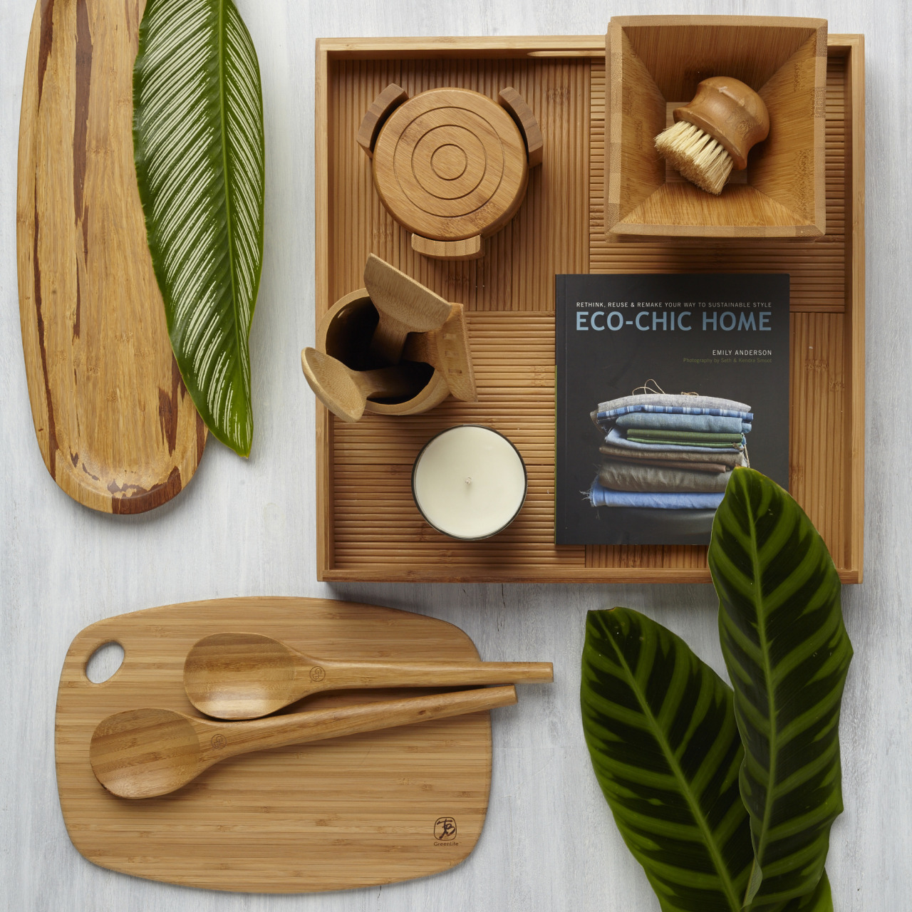 Eco Chic Sustainable bamboo kitchenware? Eco-friendly and so chic. #ecochic #earthday #recycle #sustainability