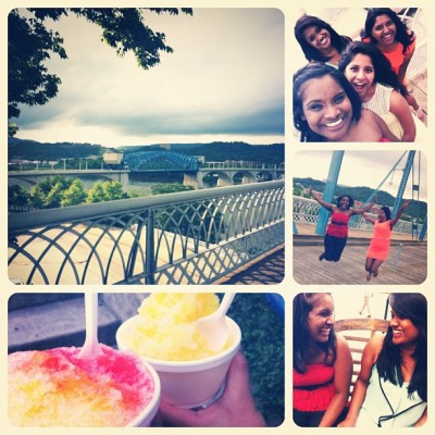 ☺ #summertime #finally #downtown #fun #laughter #shavedice #chattanoogariver #bridge#happy #goodday #outwiththegirls