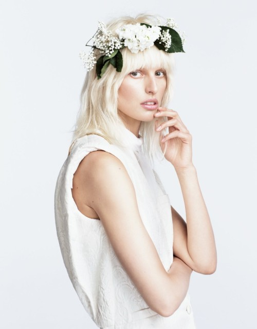 Karolina Kurkova is a Flower Child for Numéro Tokyo June 2013 by Nino Muñoz