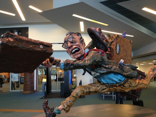 "reblog-dump:  ""The Flying Traveller"" at YVR"