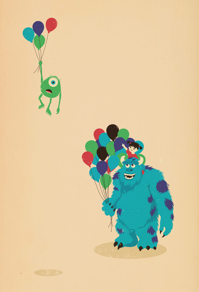 lion-needy:  Mike Wazowski! Art Print by Jay Fleck | Society6 no We Heart It. http://weheartit.com/entry/59985209/via/Daniela13