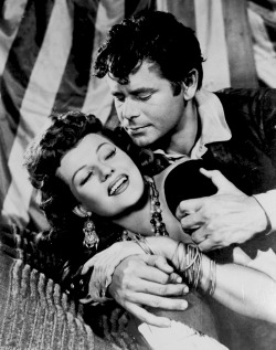 Glenn Ford and Rita in promotional shot for The Loves Of Carmen(1948).