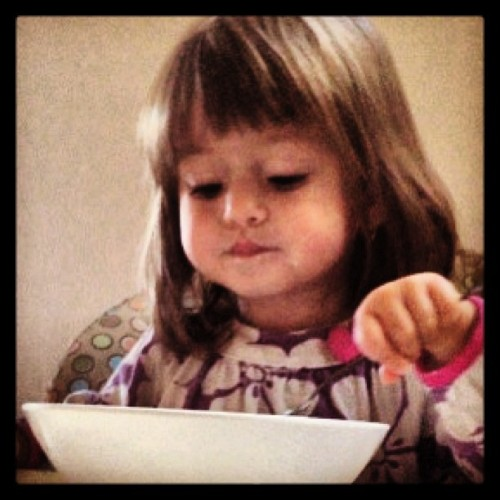 Lovin me some cereal, and rockin the hand-eye coordination!