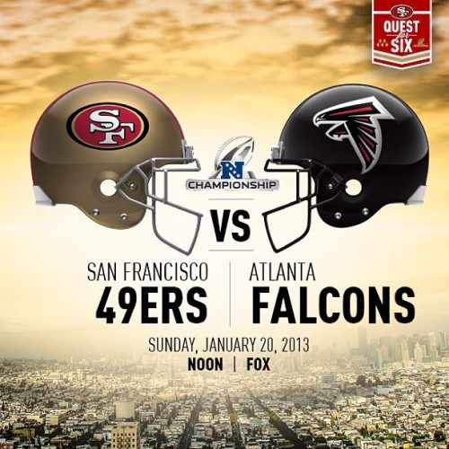 @49ers: The #QuestforSix heads to Atlanta for the #NFCChampionship.