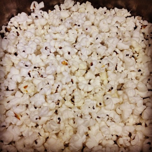 After, not burnt, just red. #popcorn