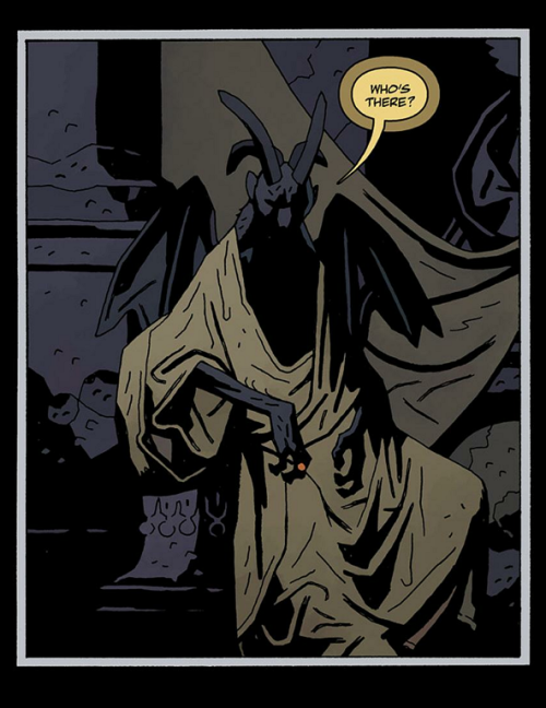 "Hellboy in Hell #3 by Mike Mignola ""Satan?"""