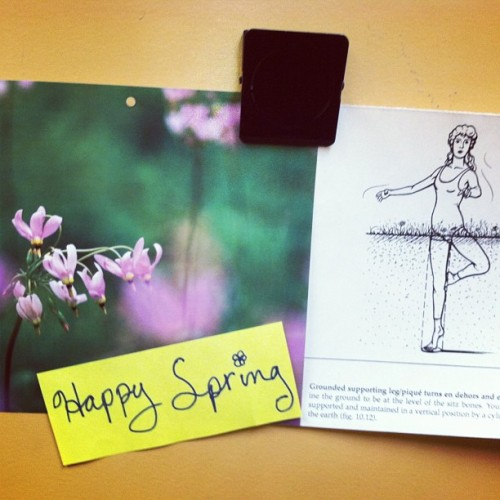 Dancers getting ready for spring!!! #dance #ballet #flowers #pirouette #spring #hashtag
