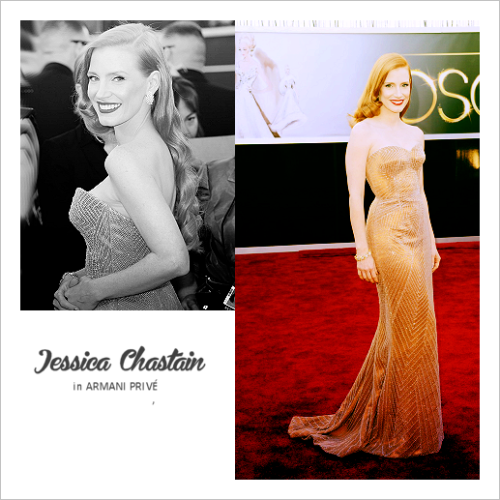 top 10 oscar dresses 02 | jessica chastain in armani privé