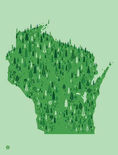 Forest Wisconsin by Little Friends of Printmaking on Flickr. I also bought this one, because I am apparently overflowing with pride for my state… even after being let down by it time and time again. p.s. you can buy this too, just go here: http://thelittlefriendsofprintmaking.com/oops/