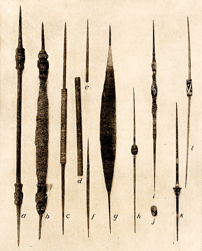 Peruvian Spindle collection. Morris De Camp Crawford. Anthropological papers of the American Museum of Natural History, Volume 12.