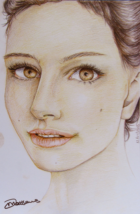 Staedtler Ergosoft pencils on A5 Natalie Portman.