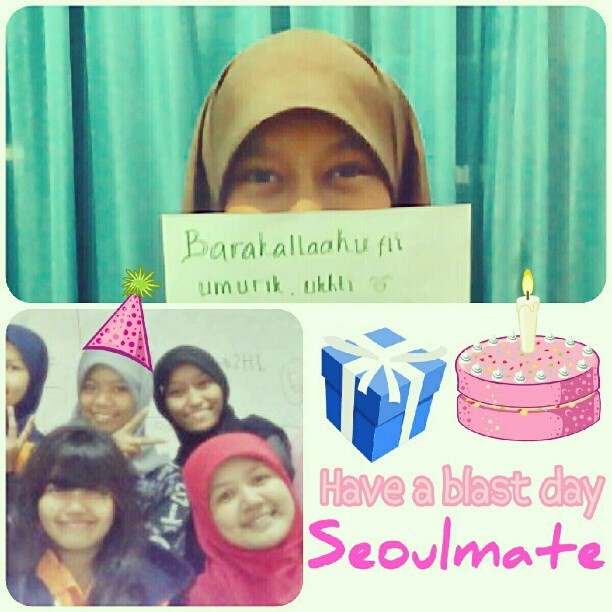 00.00 Dec 16th 2012. It's ur day, seoulmate Nurul Muchlisa may happiness surround u endlessly & completely better than ever, aamiin have a wonderful year ahead #friendship