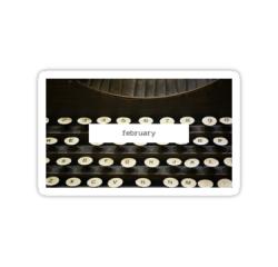 February || #stickers #studyspo #bulletjournals || https://ift.tt/2PDBL9Q #february#stickers#studyspo#bullet journals#aesthetic#typewriter