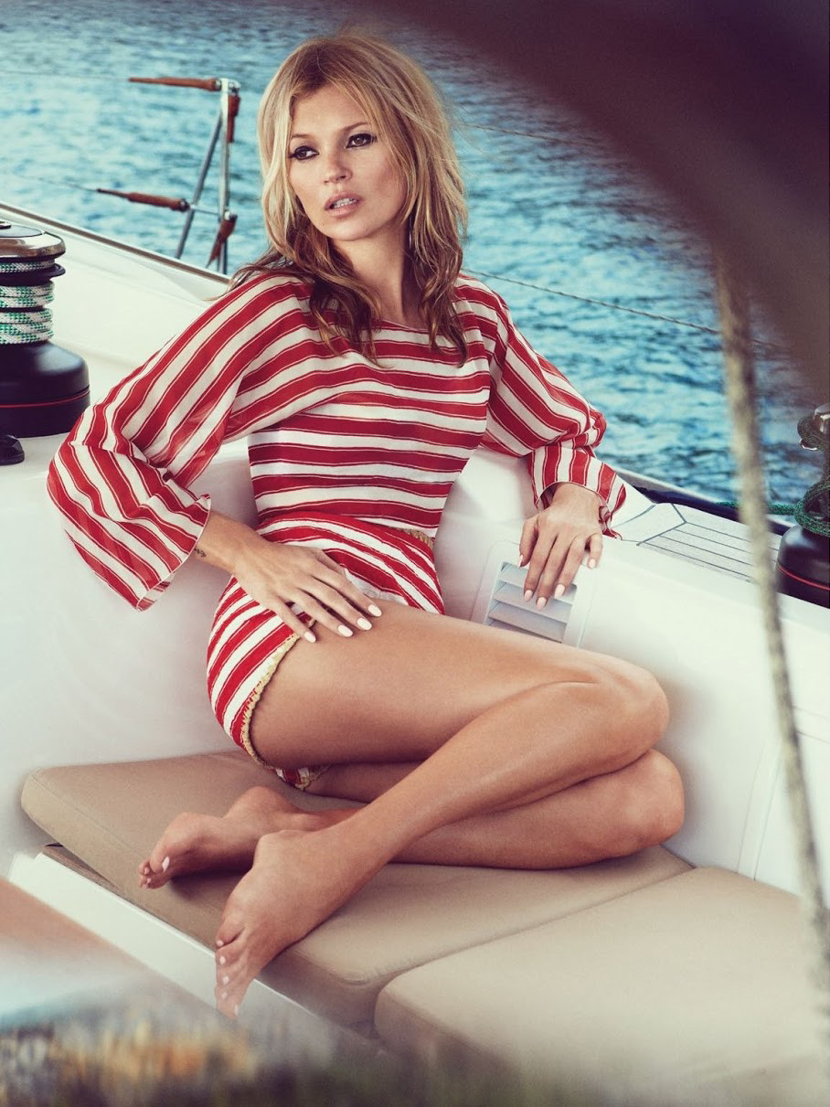 bohemea:  Kate Moss: Sail Away - Vogue UK by Patrick Demarchelier, June 2013