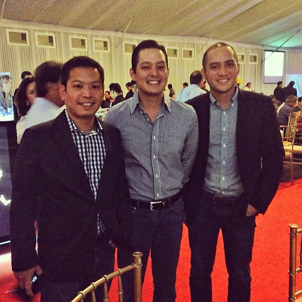 The boys in blue and white checkered shirts.:) #goldentee #manilagolf #golf (at Manila Golf and Country Club)