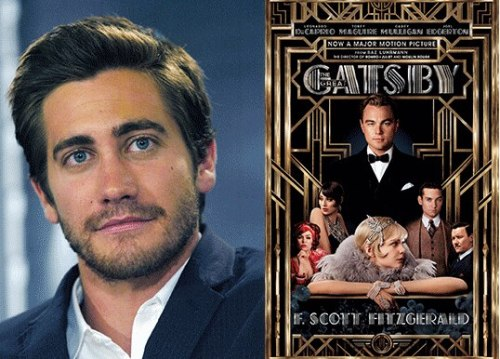gatsbymovie:  Actor Jake Gyllenhaal is recording the audiobook of The Great Gatsby. Listen to a clip here: http://huff.to/ZP06GP  fuck. me.