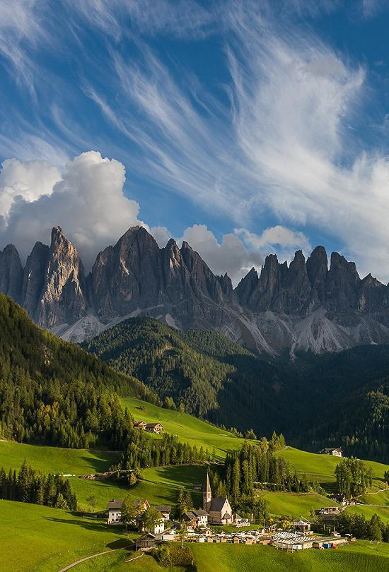 0mnis-e:  Santa Maddalena and clouds, By Hans Kruse.
