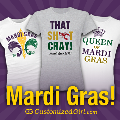 Let the good times roll and customize Mardi Gras Shirts just in time to celebrate!