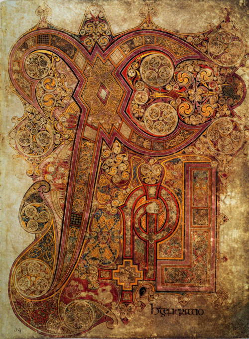 museumuesum:  Chi Rho Iota, page from the Book of Kells, Ireland, late 8th/early 9th century.