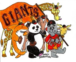 Giants Rally Banner. Colored pencil and Micron, October 2012.