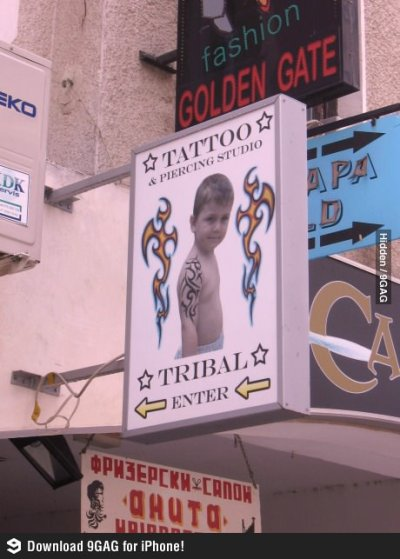 Tattoo Parlor Signage in Macedonia…Why, Just Why?