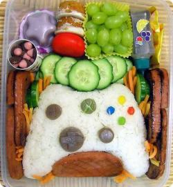 Xbox controller opa sushi style: What did you have for lunch today? take a look at this bad boy how fun and creative would your lunch be if someone packed you this for lunch. It would definitely make my day.