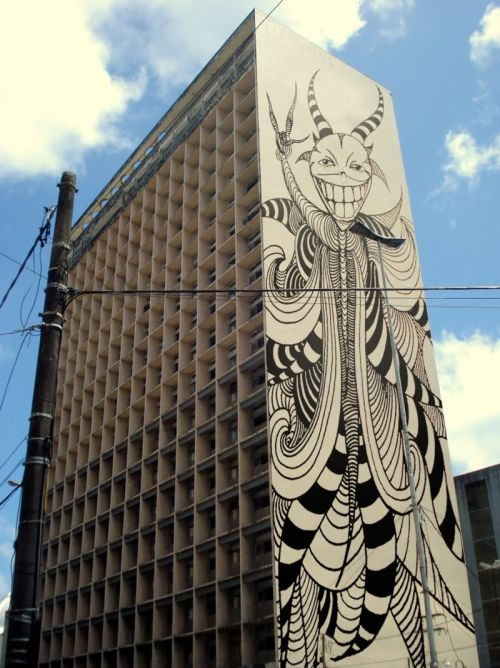 eatsleepdraw:  Hellcife. #recife #batatus  Awesome… Does anyone want to draw the same shit on the walls of our city hall?