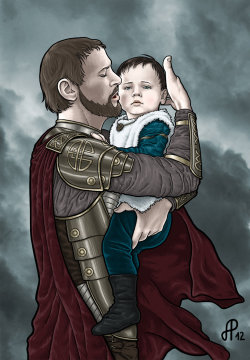 darkknightress:  Odin and young Loki by =AlessiaPelonzi