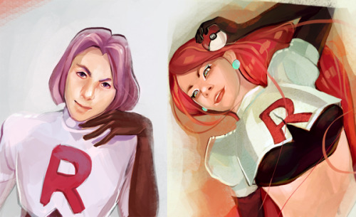 dotcore:  Team Rocket.by Samantha Musticone. Check out the artist's Tumblr.  Someone posted my work, thought I'd reblog it!