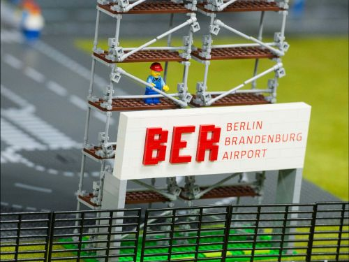 "Berlin airport fiasco an embarrassment for Germans: ""Delays to the Berlin Brandenburg International Airport have become so endemic that even a Legoland display in nearby Hamburg pokes fun at the problems plaguing the airfield."" Photograph:  Maurizio Gambarini for AFP/Getty."
