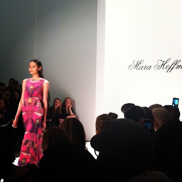 Geometric prints galore at Mara Hoffman #nyfw #mbfw #fashion