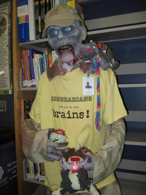 chicagopubliclibrary:  Billy The Zombrarian   He has love for your brains!  Billy the Zombrarian resides at a high school library in Denver, Colorado. Maybe we need our own Zombrarian at the CPL!