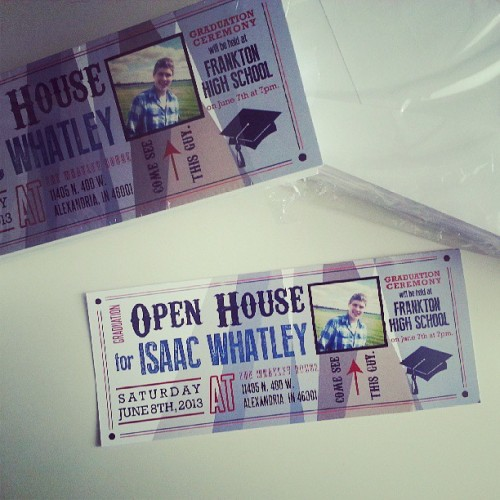 Picked up the open house invitations that I designed for my brother. They turned out nice! #graduation #independence