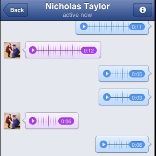 So me and nick sing to each other over Facebook..jealous? Yeah of course you are. @stillatthebuffet