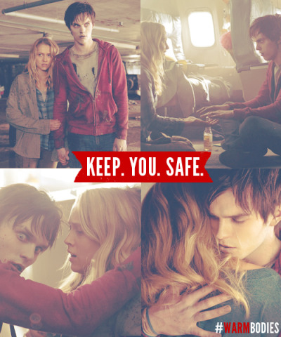 warmbodiesmovie:  Keep. You. Safe.  I can not wait to see this!! My mom saw it and was not impressed but I informed her that her opinion was flawed.  Loved this book and this movie looks great!!