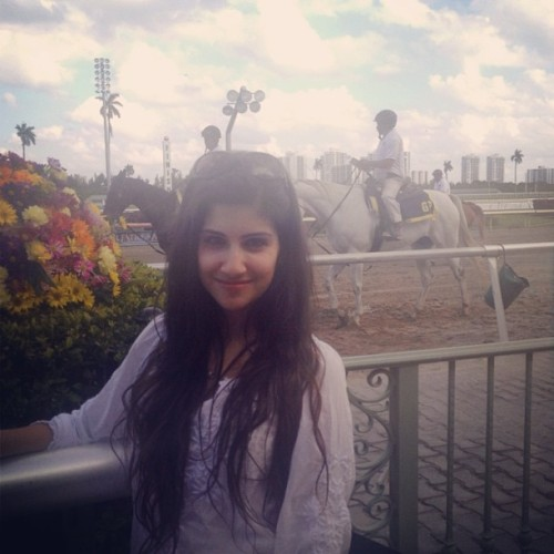 horse racesss #horse #florida #me #instagood #race #vacation #longhair #whitehorse (at Gulfstream race track hallandale)
