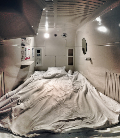 Been here, done that. dontrblgme:  Capsule Hotel, Osaka, Japan. (via daveweekes68)